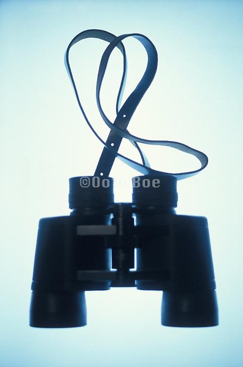 silhouette of binoculars