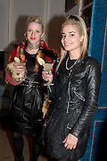 HARRIET VERLEY; MIMI WADE, Party hosted for Jason Wu by Plum Sykes and Christine Al-Bader. Ladbroke Grove. London. 22 March 2011. -DO NOT ARCHIVE-© Copyright Photograph by Dafydd Jones. 248 Clapham Rd. London SW9 0PZ. Tel 0207 820 0771. www.dafjones.com.