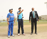 ICC World Twenty20 Qualifier UAE 2012.Scotland take on the USA at the Global Cricket Academy, Dubai, in their 6th game of the tournament..Pic shows.