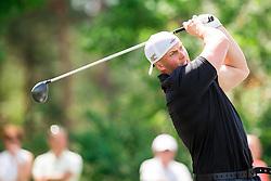 Joe Miller of England during Slovenia Long Drivers European Tour  Championship on July 5, 2014 in  Golf Arboretum Ljubljana, Volcji Potok, Slovenia. Photo By Vid Ponikvar / Sportida