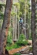 Downhill biker, Breckenridge, CO.