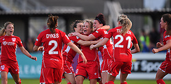 Lily Agg of Bristol City Women celebrates - Mandatory by-line: Paul Knight/JMP - 20/05/2017 - FOOTBALL - Stoke Gifford Stadium - Bristol, England - Bristol City Women v Liverpool Ladies - FA Women's Super League Spring Series