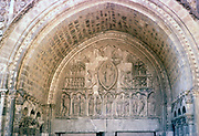 Cathedrale St Etienne - originally 12th Century  Tympanum above North Door, St Etienne Cathedral, Cahors, Lot department, south west France 1976