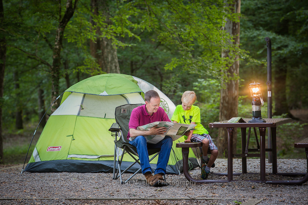 Charles Phillips and his son, Cullen Phillips, camp at the Kisatchie Bayou Recreation Area. The recreation area is just off the Longleaf Vista Scenic Byway in the Kisatchie National Forest. The byway offers natural beauty as well as access to trailheads, camping sites and scenic views.