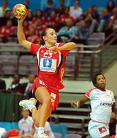 Håndball , 20. desember 2009 , Norge - Spania , Bronse-finale , hvor nordk tok 3. plassen<br /> World Cup China Game to square 3 Spain Norway 20 28 Camilla Herrem NOR <br /> <br /> Norway only
