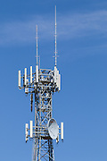 Provincial  cellular, microwave and telecom communications systems lattice tower in Cobram, Victoria, Australia. <br />