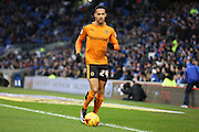 Wolverhampton Wanderers midfielder Jordan Graham (24) during the Sky Bet Championship match between Brighton and Hove Albion and Wolverhampton Wanderers at the American Express Community Stadium, Brighton and Hove, England on 1 January 2016. Photo by Phil Duncan.