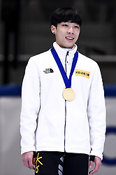February 9, 2019 - Torino, Italia - Foto LaPresse/Nicolò Campo .9/02/2019 Torino (Italia) .Sport.ISU World Cup Short Track Torino - Men 1500 meters Final A .Nella foto: Gun Woo Kim esulta ..Photo LaPresse/Nicolò Campo .February 9, 2019 Turin (Italy) .Sport.ISU World Cup Short Track Turin - Men 1500 meters Final A.In the picture: Gun Woo Kim celebrates (Credit Image: © Nicolò Campo/Lapresse via ZUMA Press)