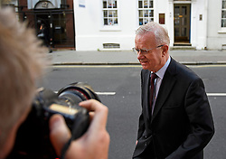 ©  London News Pictures. 05/07/2016. London, UK. Sir John Chilcot, Chairman of the Iraq Inquiry seen arriving at his office in central London on July 5, 2016. The the long-awaited Chilcot inquiry into the war in Iraq is due to be released on Wednesday. Photo credit: Ben Cawthra/LNP