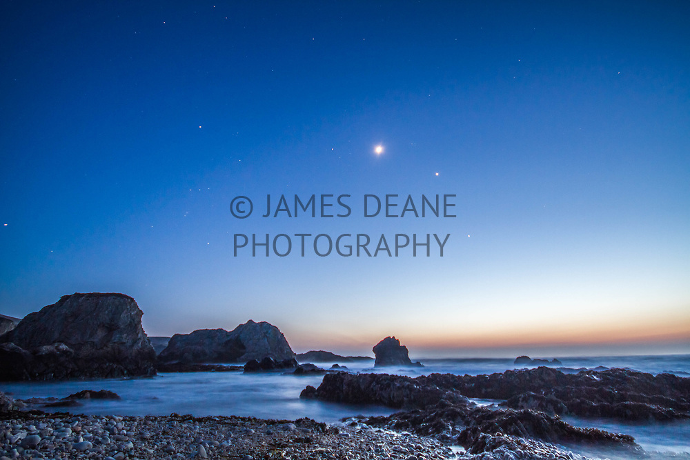 The conjunction of Venus & Jupiter as viewed from Islay's North Coast in 2012