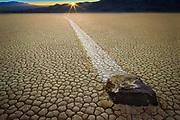 The Racetrack Playa in Death Valley National Park in California