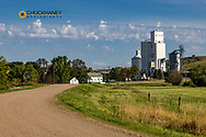 Sheyenne Scenic Byways leads into the small town of Kathryn, North Dakota, USA