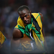 Usain Bolt, Jamaica, wins the Men's 200m Final at the Olympic Stadium, Olympic Park, during the London 2012 Olympic games. London, UK. 9th August 2012. Photo Tim Clayton