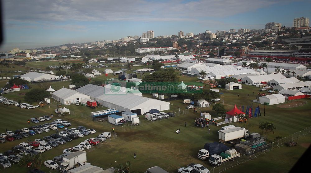 07062018 (Durban) the adrenaline of Vodacom Durban July flowing like water among the massive crowd expected at Greyville Racecourse in Durban for the running of the R4.25 million, Grade 1, Vodacom Durban July, the greatest racing, fashion and entertainment extravaganza on the African continent.<br /> Picture: Motshwari Mofokeng/African News Agency/ANA