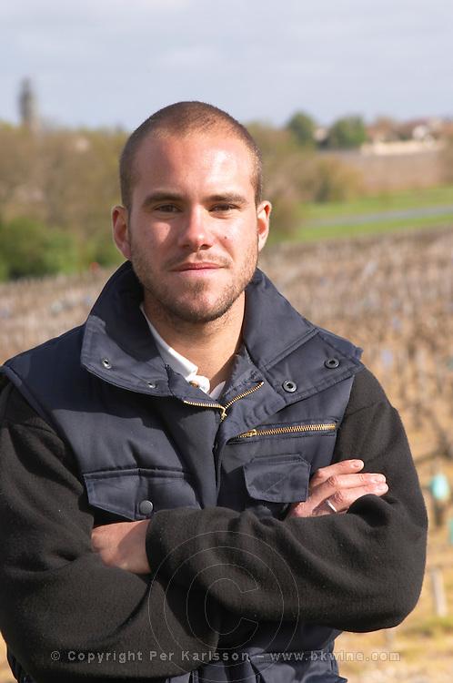 Damien Martial, winemaker chateau le boscq st estephe medoc bordeaux france