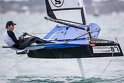 Practice race on the day before the start of the McDougall + McConaghy 2015 Moth Worlds, Sorrento, Australia. January 9th 2015.
