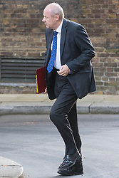 Downing Street, London, October 11th 2016. Government ministers arrive for the first post-conference cabinet meeting. PICTURED: Work and Pensions Secretary Damian Green
