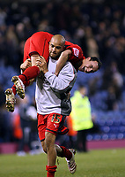 Photo: Mark Stephenson/Sportsbeat Images.<br /> West Bromwich Albion v Coventry City. Coca Cola Championship. 04/12/2007.Michael Mifsud and Leon McKenzie (15) celebrate there win after the game