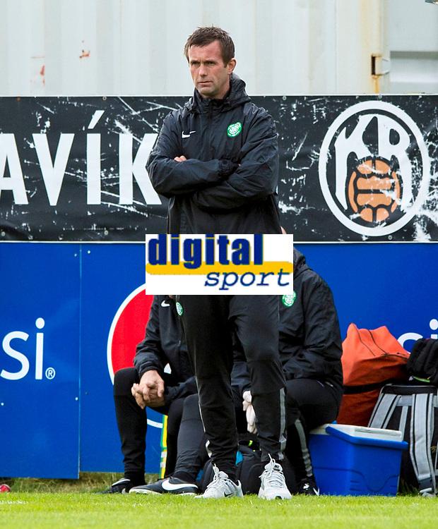 16/07/14 UEFA CHAMPIONS LEAGUE 2ND RND QUALIFIER<br /> KR REYKJAVIK v CELTIC<br /> KR-VOLLUR STADIUM - REYKJAVIK<br /> Celtic manager Ronny Deila