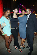 """I to r: Nichol Hall, Michelle Thornton, Motisla lozau and Rchard Cambell at """" Lincoln After Dark """" sponsored by Lincoln Motors and hosted by Idris Elba and Steve Harvey and music by Biz Markie during the 2009 Essence Music Festival and held at The Contemporary Arts Center in New Orleans on July 4, 2009"""