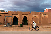 Adobe buildings of the desert town Tinghir.