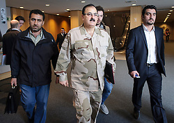 Brigadier General Salim Idriss, Chief of Staff of the Free Syrian Army, arrives at the European Parliament, in Brussels, Belgium on Monday, March 6, 2013. Idriss was a general in the Syrian Army when he defected in July 2012. (Photo © Jock Fistick)