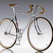 Bike on high gloss background