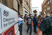 Britain Students Protest Outside Department for Education