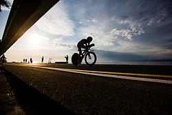 Tadej Pogacar competing Slovenia Road Cycling Championship Time Trial 202, on June 17, 2021 in Koper, Slovenia. Photo by Grega Valancic / Sportida.
