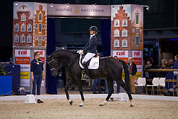 Lenaerttys Joyce, NED, Hero<br /> Final Subli Young Dressage horses 4 years of age<br /> Jumping Amsterdam 2017<br /> © Hippo Foto - Leanjo de Koster<br /> 26/01/17