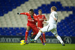 LONDON, ENGLAND - Wednesday, February 1, 2012: Liverpool's Raheem Sterling in action against Tottenham Hotspur during the NextGen Series Quarter-Final match at White Hart Lane. (Pic by David Rawcliffe/Propaganda)