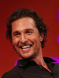 Matthew McConaughey during the filming for the Graham Norton Show at BBC Studioworks 6 Television Centre, Wood Lane, London, to be aired on BBC One on Friday evening. PRESS ASSOCIATION. Picture date: Thursday December 6, 2018. Photo credit should read: PA Images on behalf of So TV