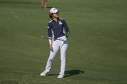 May 6, 2018 - The Colony, TX, U.S. - THE COLONY, TX - MAY 06: Yu Liu (CHN) hits from the 5th fairway during the Volunteers of America LPGA Texas Classic on May 6, 2018 at the Old American Golf Club in The Colony, TX. (Photo by George Walker/Icon Sportswire) (Credit Image: © George Walker/Icon SMI via ZUMA Press)