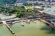 Nederland, Zuid-Holland, Rotterdam, 10-06-2015;  RDM campus, gezien naar Heijplaat. Voormalige werf van de Rotterdamsche Droogdok Maatschappij (RDM).<br /> Former shipyard of the Rotterdam Drydock Company (RDM).<br /> luchtfoto (toeslag op standard tarieven);<br /> aerial photo (additional fee required);<br /> copyright foto/photo Siebe Swart