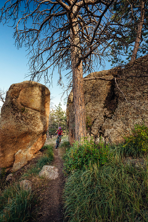 Heather Goodrich rides the Igneoramus Trail in Curt Gowdy State Park in Eastern Wyoming.