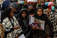 protest , outside of 10 Downing street  against police brutality after President Alpha Conde was re-elected for the third time in Guinea  October 24, 2020 photo By Mark Anton Smith