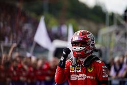 September 1, 2019, Francorchamps, Belgium: CHARLES LECLERC of Scuderia Ferrari celebrates after winning the Formula 1 Belgian Grand Prix at Circuit de Spa-Francorchamps in Francorchamps, Belgium. (Credit Image: © James Gasperotti/ZUMA Wire)