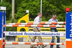 Konickx Louis (NED) en zijn assistenten Rob Ehrens en Sven Harmsen<br /> Finale KNHS-Roelofsen Raalte Trophy 2011/2012<br /> Klasse DZZ Lichte Tour<br /> © Dirk Caremans