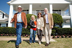 "EXCLUSIVE: 'Dallas' stars Patrick Duffy, Linda Gray, Charlene Tilton and Steve Kanaly reunite at Southfolk Ranch for the 40th anniversary of the show. Southfork Ranch, the legendary Parker, TX, ranch home to the iconic TV show, ""Dallas,"" has teamed up with VisitDallas to offer a weekend of exclusive events to celebrate the 40th anniversary of the internationally famed show which originally aired April 2, 1978 on CBS in the United States. 30 Mar 2018 Pictured: Steve Kanaly, Charlene Tilton, Linda Gray and Patrick Duffy outside the legendary Southfolk Ranch. Photo credit: James Breeden/VisitDallas/MEGA TheMegaAgency.com +1 888 505 6342"
