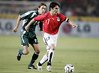 Fotball<br /> Foto: Dppi/Digitalsport<br /> NORWAY ONLY<br /> <br /> AFRICAN CUP OF NATIONS 2006 - FIRST ROUND - GROUP A - EGYPT v LIBYA<br /> <br /> AHMED HASAN (EGY) / JEHAD MUNTASER (LIB)