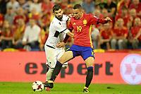 Spain's Rodrigo Moreno (r) and Albania's Elseid Hysaj during FIFA World Cup 2018 Qualifying Round match. October 6,2017.(ALTERPHOTOS/Acero)