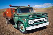 Old truck in Palouse farm field
