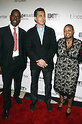 l to r: Greg Gates, John Tutturro and Moikgansti Kgama at The ImageNation celebration for the 20th Anniversary of ' Do the Right Thing' held Lincoln Center Walter Reade Theater on February 26, 2009 in New York City. ..Founded in 1997 by Moikgantsi Kgama, who shares executive duties with her husband, Event Producer Gregory Gates, ImageNation distinguishes itself by screening works that highlight and empower people from the African Diaspora.
