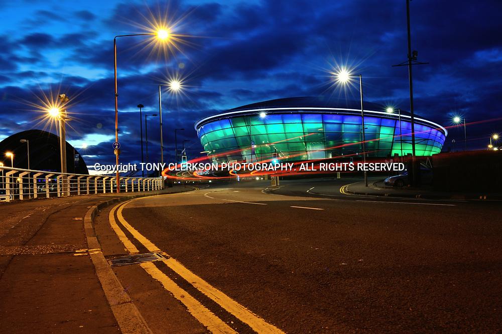 Night falls over the Hydro Arena