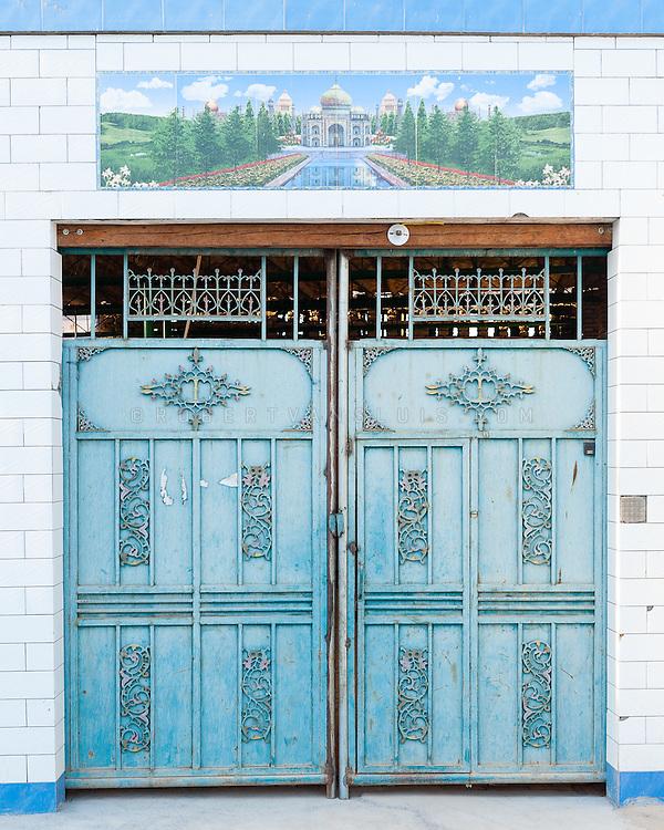 Ornamented door, Turpan, Xinjiang, China