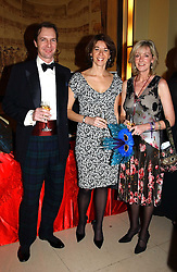 Left to right, NEIL THACKRAY, FLORENCE PAUL and SERENA BROCKBANK at 'A Rout' an evening of late evening party, essentially of revellers in aid of the Great Ormond Street Hospital Children's Charity and held at Claridge's, Brook Street, London W1 on 25th January 2005.<br /><br />NON EXCLUSIVE - WORLD RIGHTS