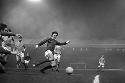 George Best in action during the match