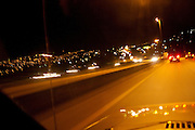 Belo Horizonte_MG, Brasil...Vista do Anel Rodoviario, de Belo Horizonte, dentro de um carro...The ring road view, in Belo Horizonte, inside a car...Foto: LEO DRUMOND / NITRO
