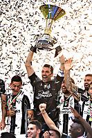 Gianluigi Buffon<br /> Esultanza Juventus Campione d'Italia . Celebration Juventus Italian championship winner <br />  Torino 21-05-2017 Juventus Stadium Football Calcio Serie A 2016/2017 Juventus - Crotone .<br /> Foto Image Sport / Insidefoto