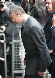 14/09/2010 - London.Shamed George Michael jailed for eight weeks for smashing his 4x4 into shop while high on cannabis.Troubled superstar George Michael was finally jailed today for the latest in a string of driving offences committed while he was high on cannabis..The former Wham! star, whose drug-taking is notorious, was handed an eight-week sentence for smashing his Range Rover into a photography shop in July..The 47-year-old sighed as the jail term was announced by District Judge John Perkins at Highbury Corner Magistrates' Court in north London this afternoon..His long-term boyfriend Kenny Goss left the building wiping his eyes shortly after the sentencing..Michael will serve four weeks in prison and spend the rest on licence. He was also banned from driving for five years, fined £1,250 and ordered to pay £100 in costs. (Credit Image: © Whitehotpix/ZUMApress.com)